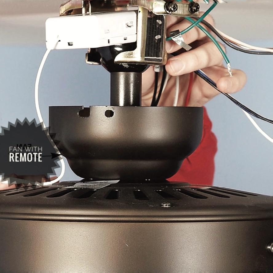 ceiling fan remote control install